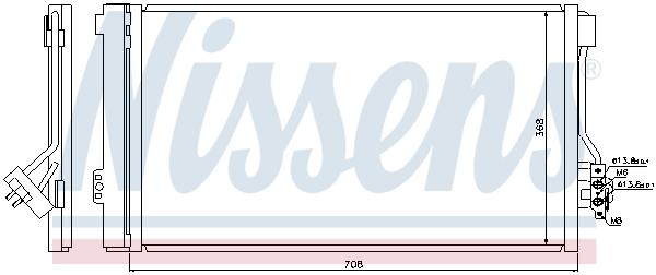 Slika NISSENS - 940178 - Kondenzator, klima-uređaj (Klima-uređaj)