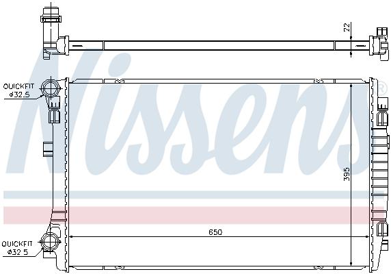 Slika NISSENS - 65303 - Hladnjak, hlađenje motora (Hlađenje)