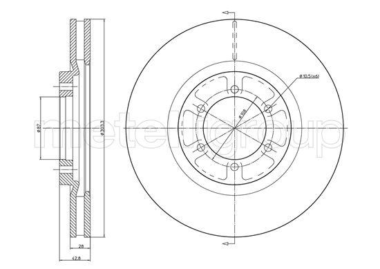 Slika METELLI - 23-1537C - Kočioni disk (Kočioni uređaj)