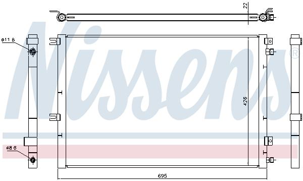Slika NISSENS - 940468 - Kondenzator, klima-uređaj (Klima-uređaj)