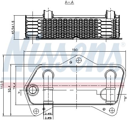 Slika NISSENS - 90653 - Uljni hladnjak, automatski menjač (Automatski menjač)