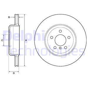 Slika DELPHI - BG9130C - Kočioni disk (Kočioni uređaj)