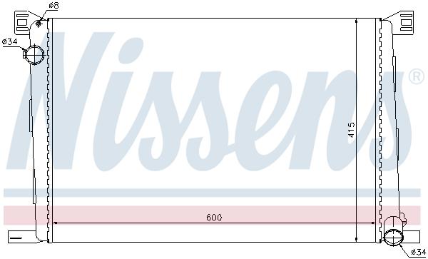 Slika NISSENS - 69706 - Hladnjak, hlađenje motora (Hlađenje)