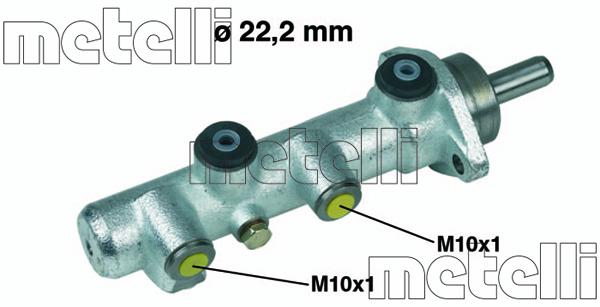 Slika METELLI - 05-0234 - Glavni kočioni cilindar (Kočioni uređaj)