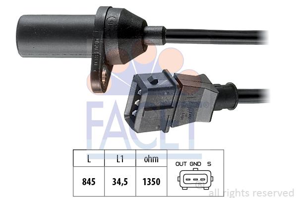 Slika FACET - 9.0381 - Davač impulsa, radilica (Uređaj za paljenje)
