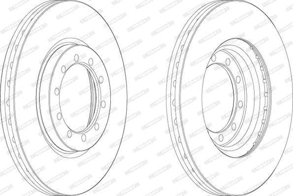 Slika FERODO - FCR182A - Kočioni disk (Kočioni uređaj)
