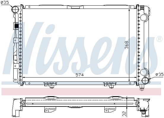 Slika NISSENS - 62671A - Hladnjak, hlađenje motora (Hlađenje)