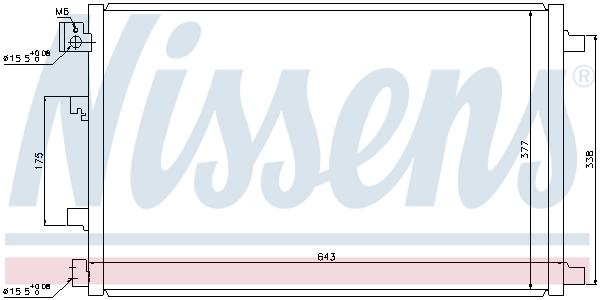Slika NISSENS - 940039 - Kondenzator, klima-uređaj (Klima-uređaj)