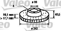 Slika VALEO - 186441 - Kočioni disk (Kočioni uređaj)