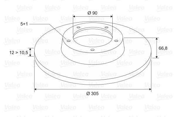 Slika VALEO - 186740 - Kočioni disk (Kočioni uređaj)