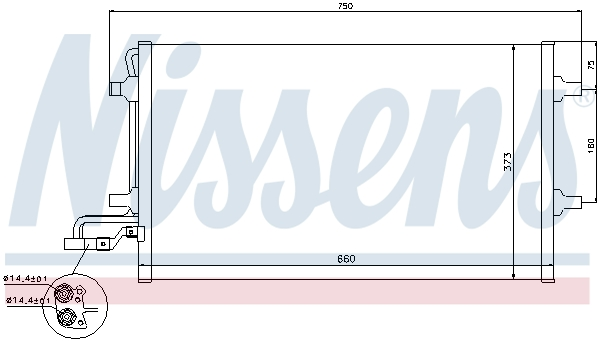 Slika NISSENS - 940086 - Kondenzator, klima-uređaj (Klima-uređaj)