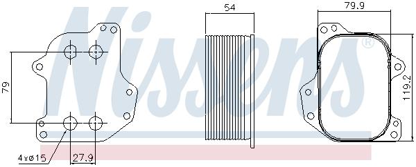 Slika NISSENS - 90745 - Uljni hladnjak, ulje za motor (Podmazivanje)