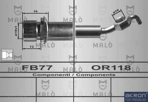 Slika AKRON-MALÒ - 80611 - Kočiono crevo (Kočioni uređaj)