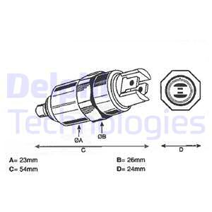 Slika DELPHI - 7185-900T - Uređaj za zaustavljanje, sistem za ubrizgavanje (Priprema smese)