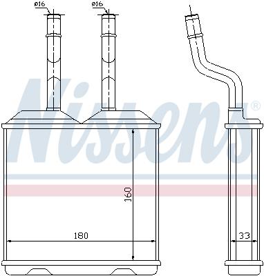 Slika NISSENS - 72634 - Izmenjivač toplote, grejanje unutrašnjeg prostora (Grejanje/ventilacija)