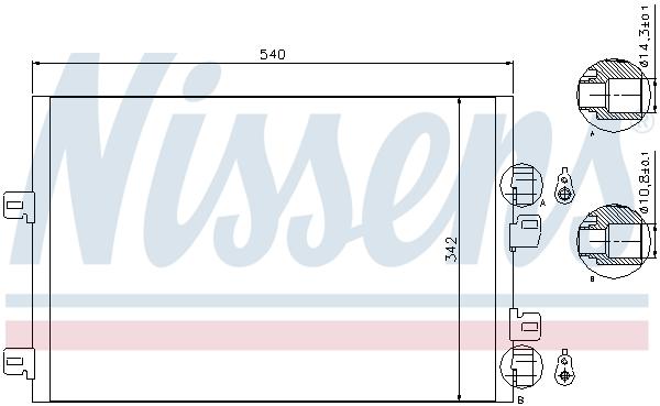 Slika NISSENS - 94745 - Kondenzator, klima-uređaj (Klima-uređaj)