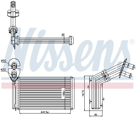 Slika NISSENS - 73973 - Izmenjivač toplote, grejanje unutrašnjeg prostora (Grejanje/ventilacija)