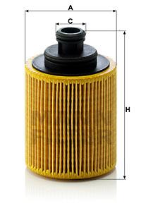 Slika MANN-FILTER - HU 712/7 x - Filter za ulje (Podmazivanje)