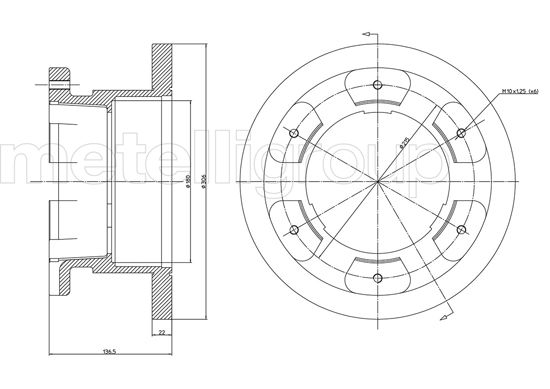 Slika METELLI - 23-1000 - Kočioni disk (Kočioni uređaj)