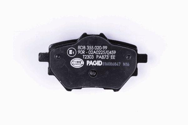 Slika HELLA PAGID - 8DB 355 020-991 - Komplet pločica, disk-kočnica (Kočioni uređaj)