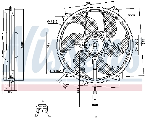 Slika NISSENS - 85561 - Ventilator, hlađenje motora (Hlađenje)