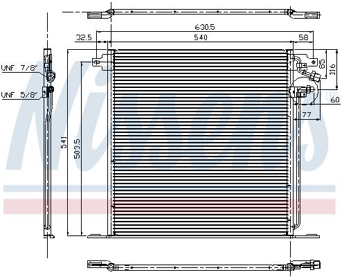Slika NISSENS - 94226 - Kondenzator, klima-uređaj (Klima-uređaj)