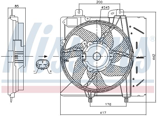 Slika NISSENS - 85991 - Ventilator, hlađenje motora (Hlađenje)