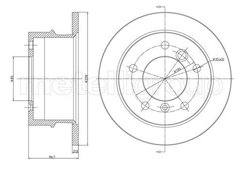 Slika METELLI - 23-0491 - Kočioni disk (Kočioni uređaj)