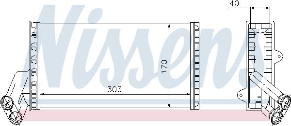 Slika NISSENS - 71149 - Izmenjivač toplote, grejanje unutrašnjeg prostora (Grejanje/ventilacija)