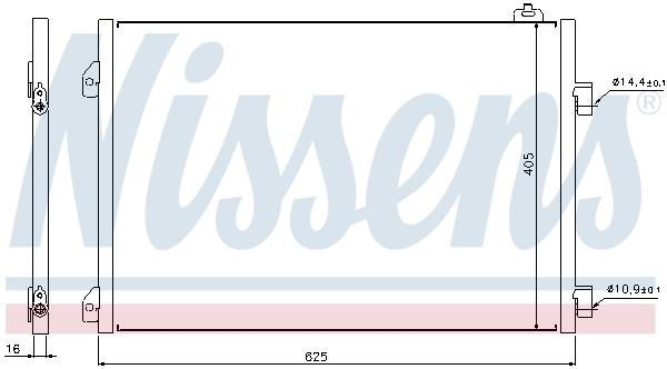 Slika NISSENS - 94668 - Kondenzator, klima-uređaj (Klima-uređaj)