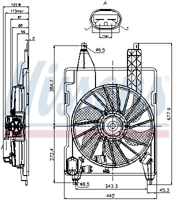 Slika NISSENS - 85706 - Ventilator, hlađenje motora (Hlađenje)
