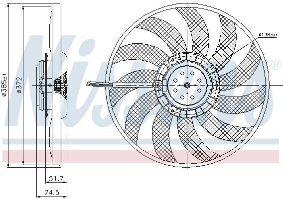 Slika NISSENS - 85638 - Ventilator, hlađenje motora (Hlađenje)