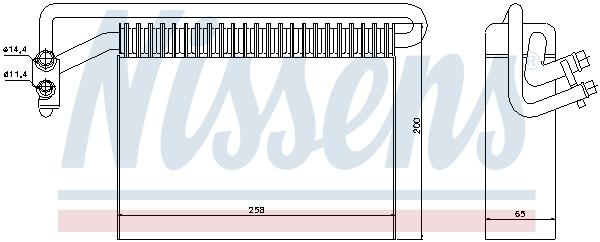 Slika NISSENS - 92177 - Isparivač, klima-uređaj (Klima-uređaj)