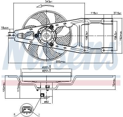 Slika NISSENS - 85134 - Ventilator, hlađenje motora (Hlađenje)