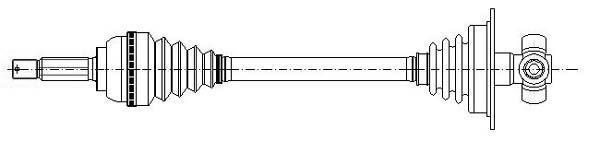 Slika METELLI - 17-0429 - Pogonsko vratilo (Pogon točkova)