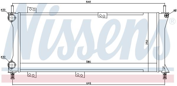 Slika NISSENS - 617731 - Hladnjak, hlađenje motora (Hlađenje)