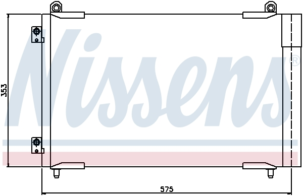 Slika NISSENS - 94837 - Kondenzator, klima-uređaj (Klima-uređaj)
