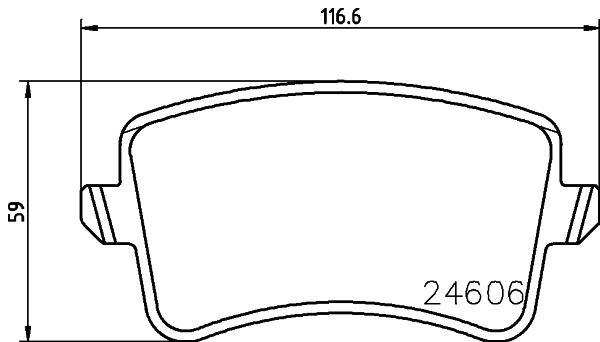 Slika HELLA PAGID - 8DB 355 025-391 - Komplet pločica, disk-kočnica (Kočioni uređaj)