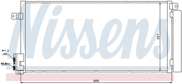 Slika NISSENS - 94899 - Kondenzator, klima-uređaj (Klima-uređaj)