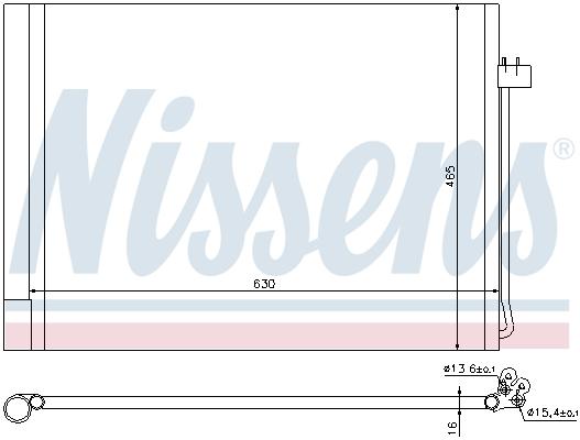 Slika NISSENS - 940058 - Kondenzator, klima-uređaj (Klima-uređaj)