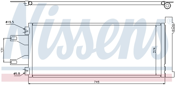 Slika NISSENS - 94986 - Kondenzator, klima-uređaj (Klima-uređaj)