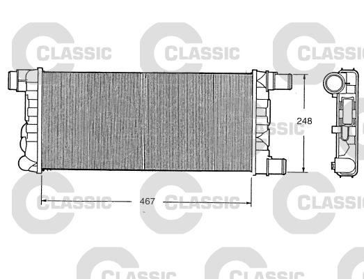 Slika VALEO - 230520 - Hladnjak, hlađenje motora (Hlađenje)