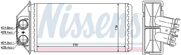 Slika NISSENS - 72944 - Izmenjivač toplote, grejanje unutrašnjeg prostora (Grejanje/ventilacija)
