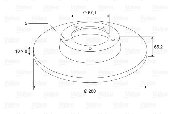 Slika VALEO - 186552 - Kočioni disk (Kočioni uređaj)