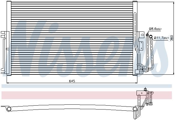 Slika NISSENS - 94234 - Kondenzator, klima-uređaj (Klima-uređaj)