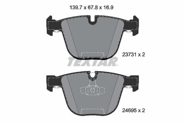 Slika TEXTAR - 2373101 - Komplet pločica, disk-kočnica (Kočioni uređaj)