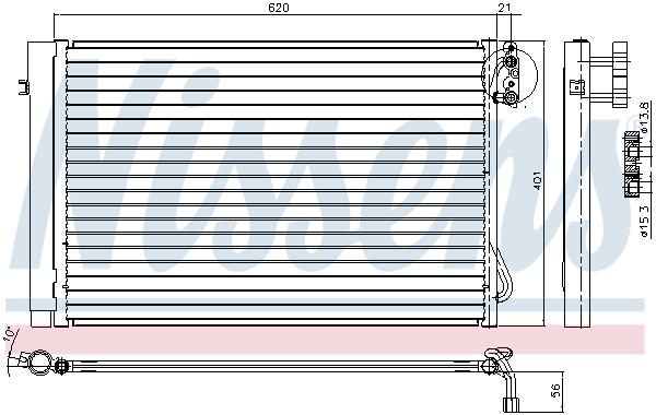 Slika NISSENS - 94872 - Kondenzator, klima-uređaj (Klima-uređaj)