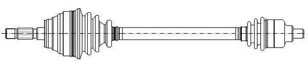 Slika METELLI - 17-0430 - Pogonsko vratilo (Pogon točkova)