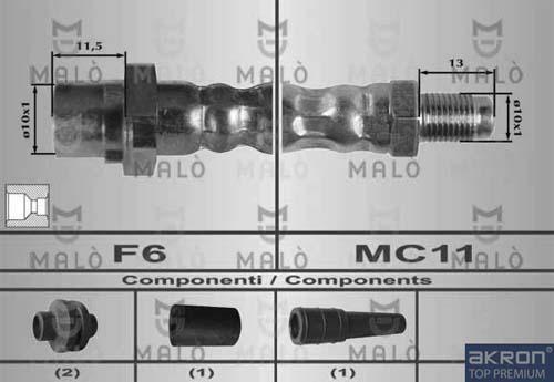Slika AKRON-MALÒ - 80266 - Kočiono crevo (Kočioni uređaj)