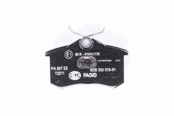 Slika HELLA PAGID - 8DB 355 019-911 - Komplet pločica, disk-kočnica (Kočioni uređaj)